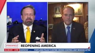 Reopening America. Rep. Lee Zeldin with Sebastian Gorka