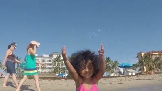 Blasian Baby Sister Enjoys Deerfield Beach!