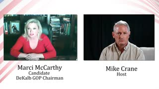Mike Crane with Marci McCarthy - Candidate for Dekalb County GOP Chair