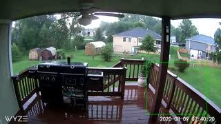 Lightning Strikes Neighbor's Tree
