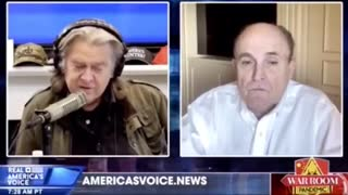 Bannon Asks Rudy To Be Special Prosecutor Trump DO IT!