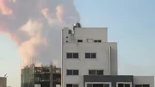 Big explosion in Beirut Lebanon.