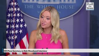 WH Press Sec. on Woodwards interview with Trump