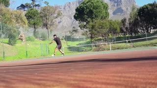 Wall Training Session at Orangia Tennis Club
