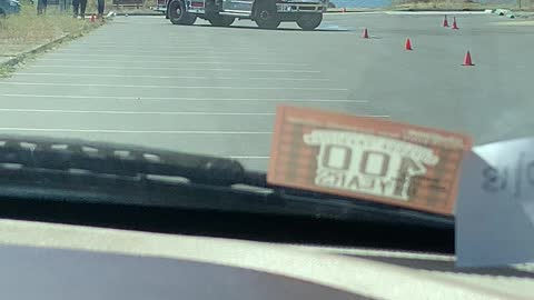 Firemen honing their driving skills!