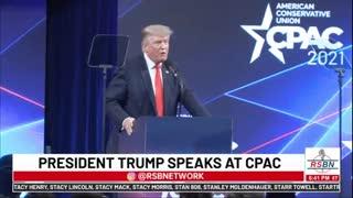 Former President Trump speaks at CPAC