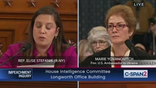 Stefanik questions witness during impeachment hearing