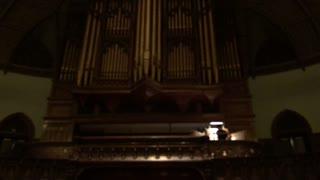 Live church organ