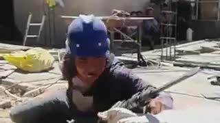 FUNNY CONSTRUCTION WORKER