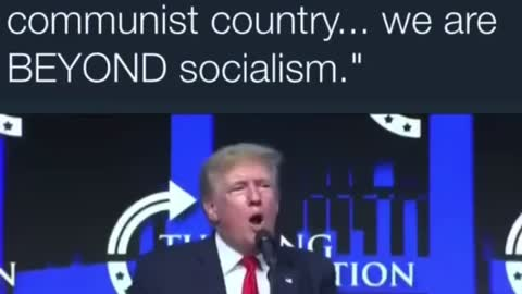 Trump tells crowd we are becoming a Communist country
