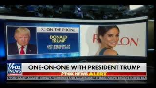 "President Trump: I Hope Meghan Markle Runs ""I hope That Happens"""