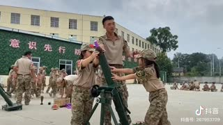 China teaching mortar fires in elementary schools