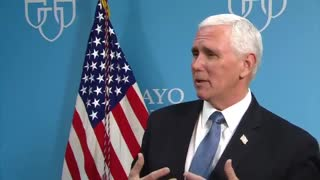 VP Pence explains why he didn't wear mask during Mayo Clinic visit