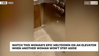 "Insane ""Social Distancing"" Elevator Meltdown"
