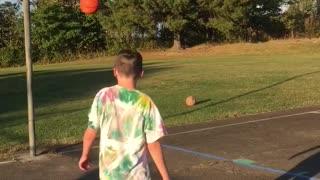 Backwards free throw