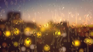 background - water droplets sliding down a glass window 🔥 4K 🔥