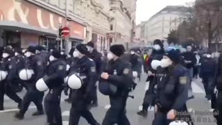 Vienna - Police Join The Protest..