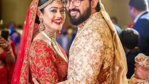 sachet parampara marriage photos   tere jeya hor disda x meera ke parbhu   #shorts