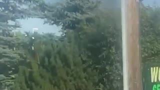 Gas station fire guy tries to break through window
