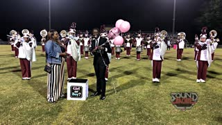 Couple celebrate surprise gender reveal at their old high school