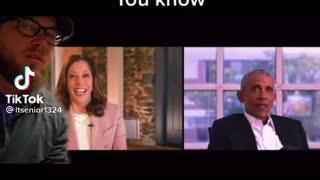 Obama an Kamala pretending to like Joe Biden creepy