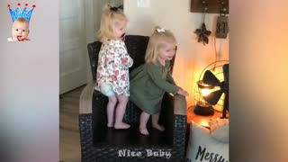 Babies trying to make their family laugh