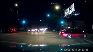 Extremely Close Call for Dog at Intersection
