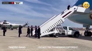 Joe Biden falls down three times lol
