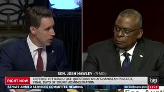 """Josh Hawley SLAMS Lloyd Austin: """"You Have Left Americans Behind"""""""