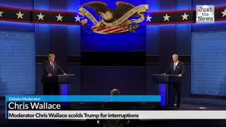Moderator Chris Wallace scolds Trump for interruptions