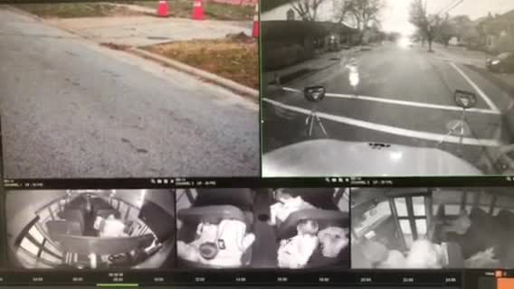 Video shows driver passing a stopped school bus
