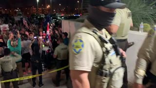 Maricopa County pro Trump protesters for a fair election.