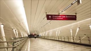 Metro Line 3 Universidad de Chile in Santiago, Chile