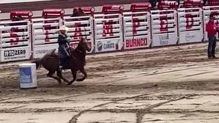 Barrel Racing at the Calgary Stampede Rodeo