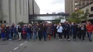 Calgary First responder Protest