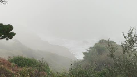 Oregon in the fog and smoke