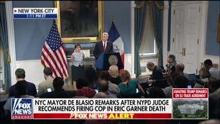 Bill De Blasio holds press conference on Eric Garner case