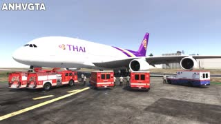 A380 Thai Airlines Emergency Airplane Landing