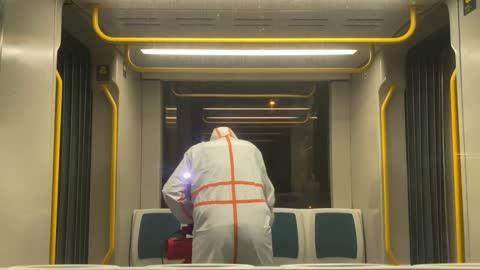 Corona Vírus Cleaning on Subway
