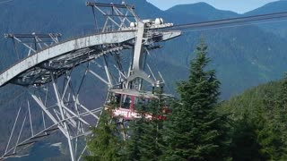 A ride up the tram to Grouse Mountain, Vancouver British Columbia