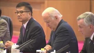 Biden Visits China with Hunter Biden as VP: Delivers Akward statements to China