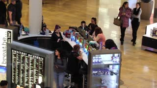 Activity at the fashion show Mall in Las vegas.