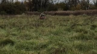 Quad atv front flip fail rides through mud
