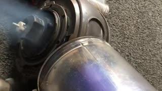 Vacuum Starts on Fire