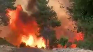 Large Fire In Jerusalem today.