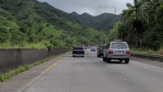 Trump Caravan on H3 Oahu, Hawaii 9/26/20
