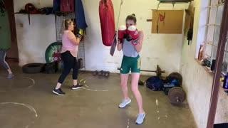Ladies boxing training