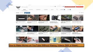 How to Make Money on YouTube Without Making Videos $6000 A Week Easiest