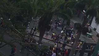 Reportan bloqueo en la Puerta del Sol