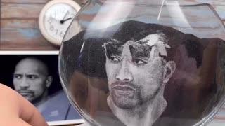 Artist Turns Sand into Rock